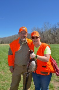 Outdoor Media - Writers adndphotographers Bill and Dian Cooper enjoy bird hunting at Wil-Nor.