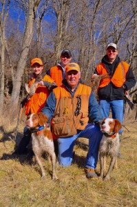 Guide Ken Bruggermann ran Rusty and Filson for this succesful hunt.