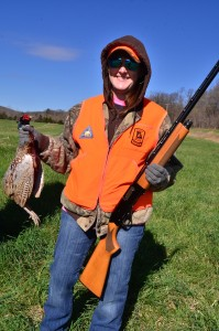 Jessica Parsons killed her first pheasant at Wil-Nor Outdoors.