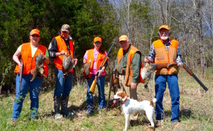 """Polk"" and Mitch Lee led this group to a successful hunt."